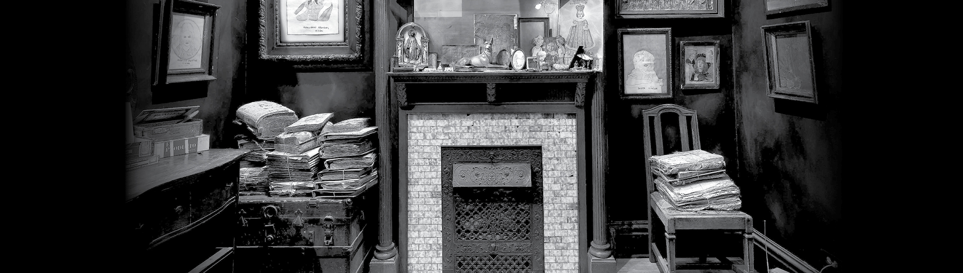 Henry Darger's fireplace