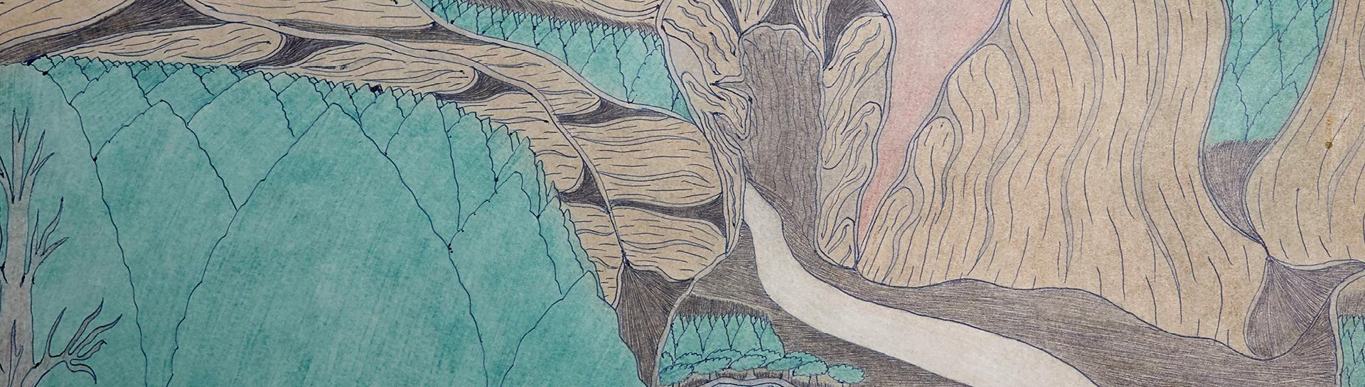 Detail of work by Joseph Yoakum