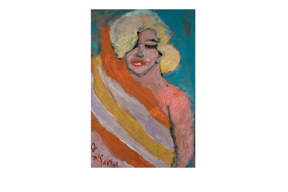 Justin McCarthy. Marilyn Monroe. Oil on board.