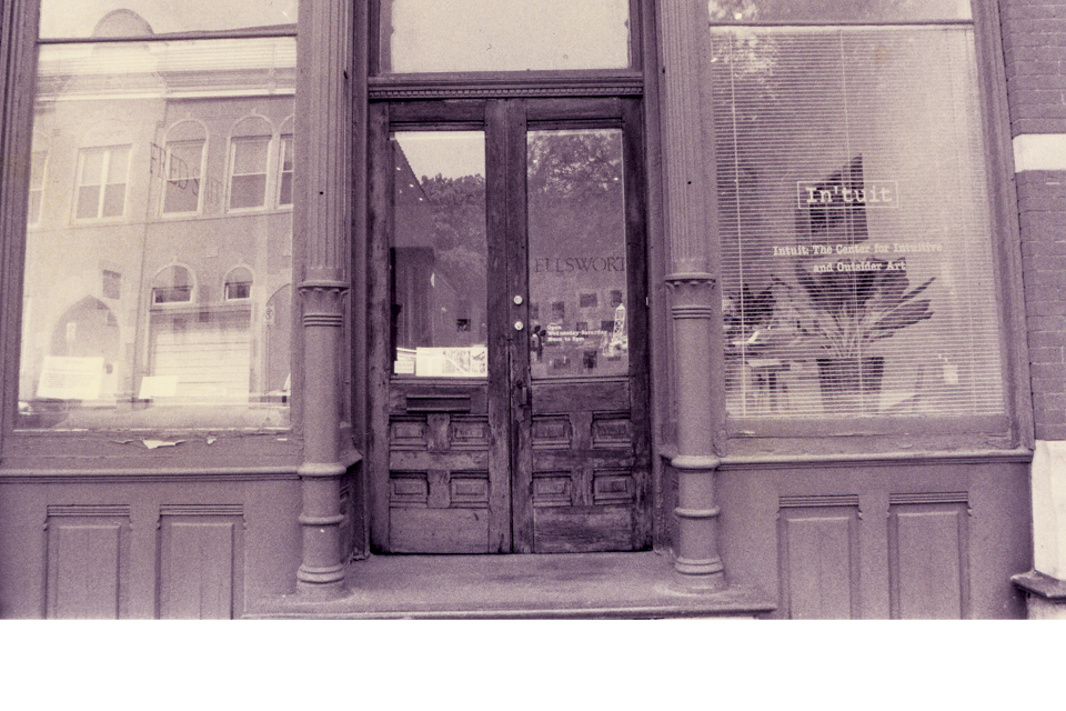 Exterior photo of Intuit's original location at Roger Brown's studio on Halsted