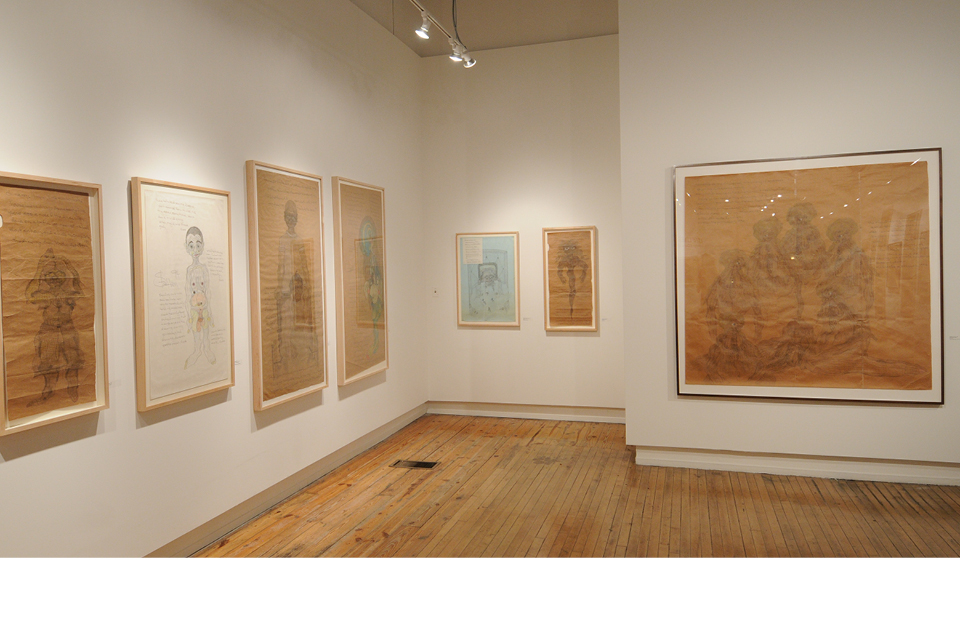 Intuit Exhibition, Life Lines: The Drawings of Charles Steffen
