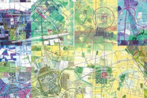 Detail of work from Jerry's Map exhibition