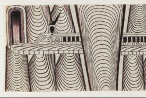 Martin Ramirez Trains drawing