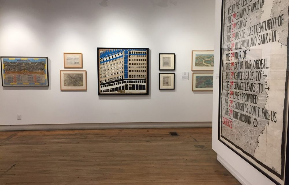 Installation shot with works by George Widener, William Hawkins and more