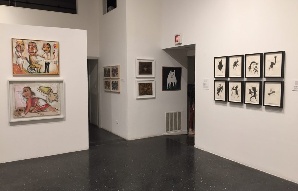 Installation shot with Marcos Bontempo, Jimmy Lee Sudduth and Jim Bloom works