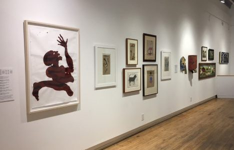 Installation shot with Marcos Bontempo and Bill Traylor works