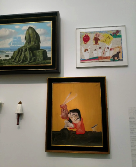 Installation view of MCA exhibition