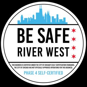 """""""Be Safe. River West"""" self-certification"""