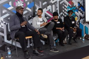 Marvin Tate, Faheem Majeed, Della Wells and Mr. Imagination at the Art Against the Flow Summit