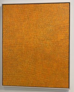 Untitled work in yellow and orange by Yukultjl Napangati